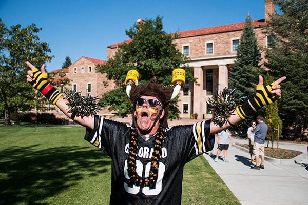 "Buffalo Phil is a what some would call a ""super fan"" of the Buffs (Photo Credit Travis Bildahl)"