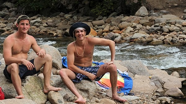 Bros love chilling with Bros...at the Boulder Creek.