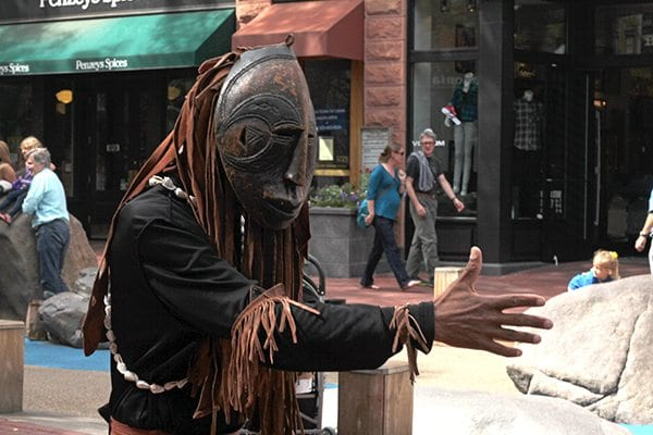 Street performers are a major part of the Boulder community.