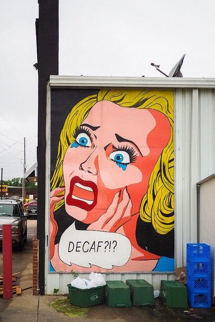 coffee-related, Llichtenstein-inspired graffiti. photo courtesy of Sean Davis.