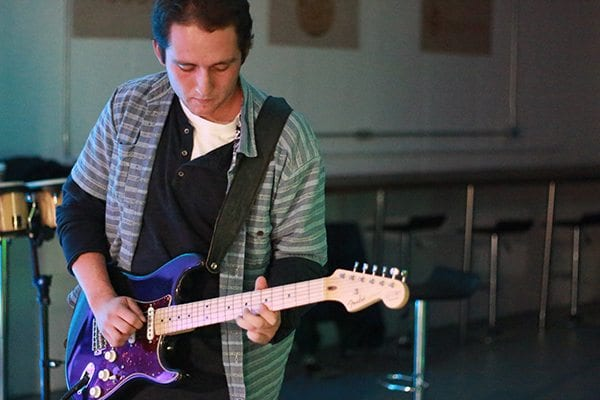 Jake Zimmerman on guitar. Photo: Travis Bildahl
