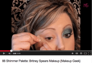 Screen Shot of You Tube Makeup Geek