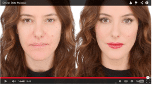 Screen Shot of Lisa Eldridge Dinner Date Makeup