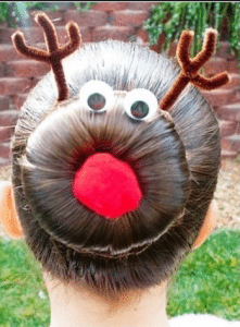 reindeer sock bun via thefrisky