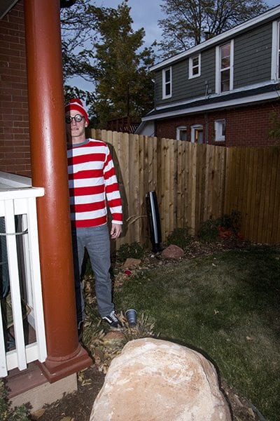 The Faces of Boulder team found Waldo last night. Check out the entire Halloween edition tomorrow evening for more costume pictures! (Photo: Joseph Wirth)