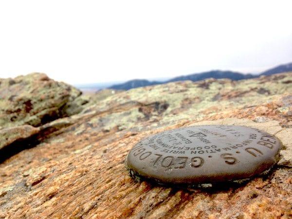boulder county hiking geologic geology survey mark top mountain