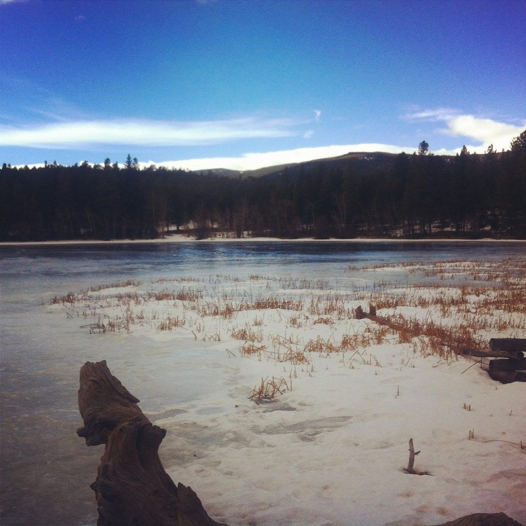 Mud Lake in Nederland, Colorado on January 18, 2015