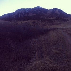 Flatirons from Bear Canyon Trail