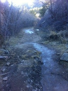 Icy conditions are likely especially in canyons, come prepared!
