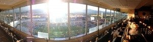 The President's suite during the 2014 football season photographed by Cortney Ratashak