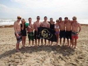 A group of friends in South Padre.