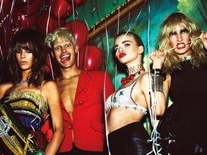 VIP party scene in W Magazine.