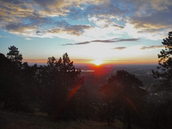 Sunrise on the summit of Sanitas
