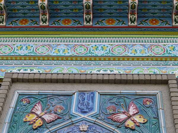 Photo Credit: Kvng. Detail of Dushanbe roof from outside view.