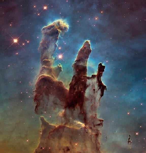 "Photo Credit: NASA. ""Pillars of Creation"" taken by Hubble Space Telescope"