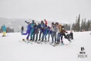 A group of CU students celebrate Gaper Day at Breckenridge. Photo via Jessica Webb