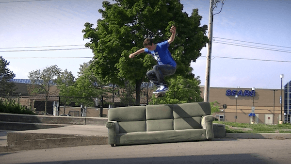Ollie over the couch. Photo Credit: RyanDavis199