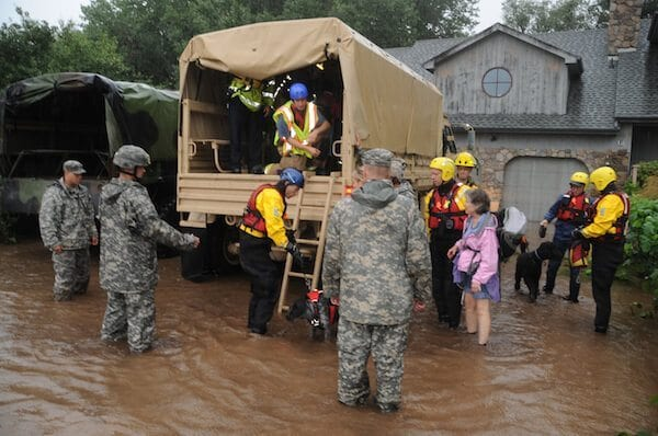 Colorado National Guardsmen respond to floods in Boulder County, Colo., Sept.12, 2013. Photo Credit: Sgt. Joseph K. VonNida