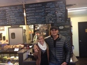 Chef/owner Christian Saber and his wife, Carly