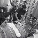 Picture of Barrel aging beer at Sanitas Brewing