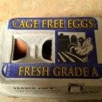 A picture showing cage free eggs