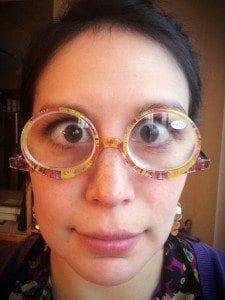 Makeup Glasses En Face