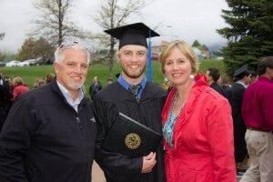 Tucker Zimmerman graduates from the University of Colorado, Boulder Leeds School of Business in 2014, photographed by Cortney Ratashak