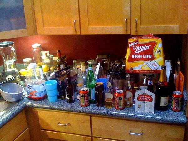 party aftermath