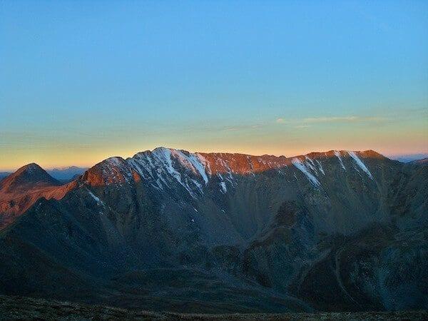 Sunrise over the Collegiate Peaks