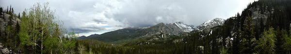 Storm rolling in over Rocky Mountain National Park