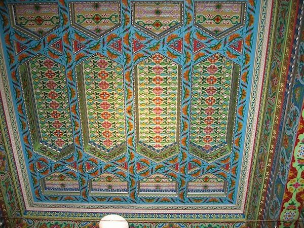Photo Credit: Mark Gallagher. Detailed image of the teahouse ceiling.