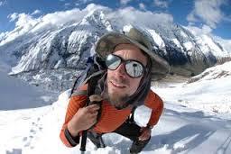 Spirited Jonny Copp enjoying his climb
