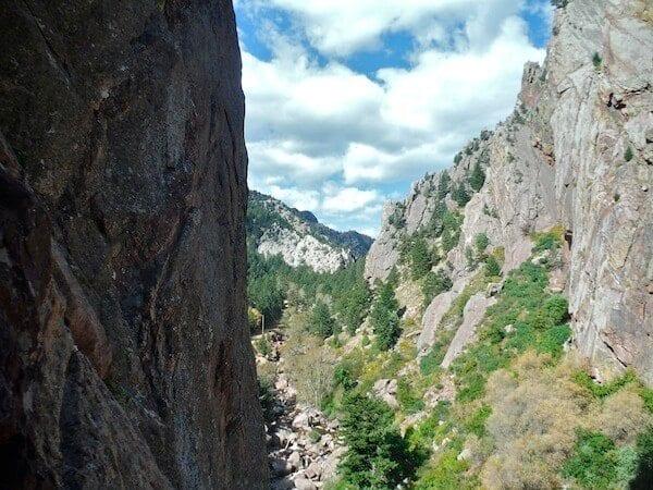 View of Eldorado Canyon from the Bastille