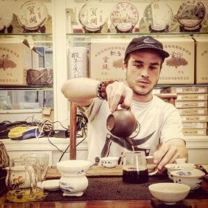 Founder, Dylan Rothenberg, enjoying a few cups of tea.