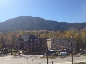 The view from the 5th floor in the UMC. Photo by Cortney Ratashak