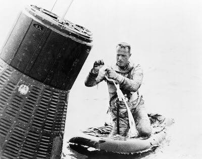 Scott Carpenter during his recovery from spaceflight. Photo Credit: Andrej-airliner.