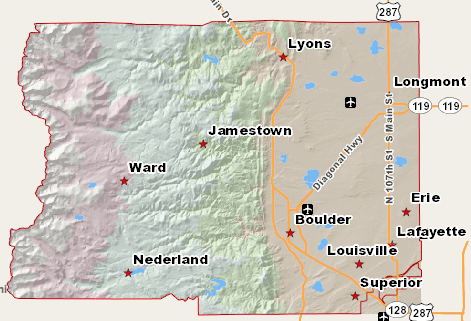 Boulder County Map. Image Credit: BoulderCounty.org