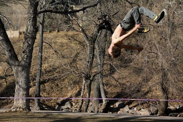 "Hitting a ""Squirrel Backflip"" in Boulder. Photo Credit: Forresbj"