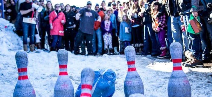 Bowling with frozen turkeys. Photo Credit: Frozen Dead Guy Days