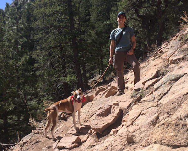 My dog Riley spent our first day living in Boulder hiking Chautauqua.