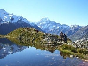 Tramping or hiking in Aoraki Mount Cook National Park
